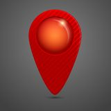 Round glossy map pointer Royalty Free Stock Images