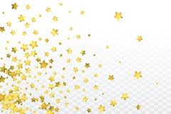 Round gold confetti. Star gold confetti. Celebrate background. Watercolor golden sparkles and dots. Explosion backdrop. Luxury invitation card template. Falling Stock Photo