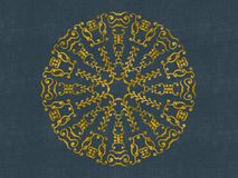Round Gold Damask Design Stock Photo