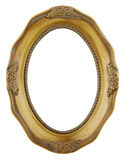 Round gold frame isolated on white Stock Photography
