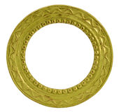 Round gold vintage frame Royalty Free Stock Photography