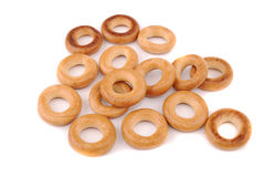 Round golden bagels Stock Photography