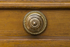 Round golden door knob Stock Images