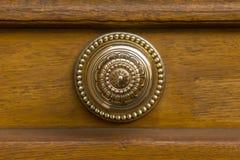 Round golden door knob Royalty Free Stock Image