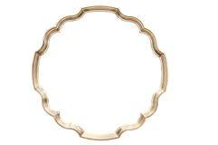 Round golden frame Stock Image