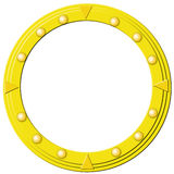 Round golden frame Stock Photo