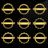 Round golden frames Royalty Free Stock Image
