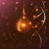 Round golden lanterns and lights, Stock Photo
