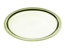 Round golden tray Stock Images
