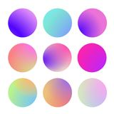 Modern gradient set abstract background. Round gradient set with modern abstract backgrounds. Colorful fluid covers for calendar, brochure, invitation, cards Royalty Free Stock Photo