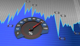 Round graph Stock Image