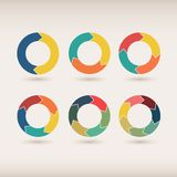 Round graph circular charts Royalty Free Stock Photography