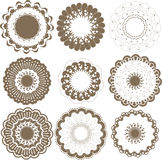 Round graphic elements set Stock Images