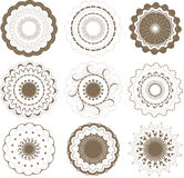 Round graphic elements set Royalty Free Stock Photography