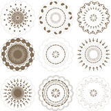 Round graphic elements set Royalty Free Stock Image