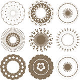 Round graphic elements set Stock Image