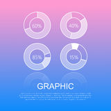 Round Graphics Template Design with Info Text. Round graphics template design with informative text on light smooth blue-pink background. Vector illustration of royalty free illustration