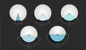 Round graphs, charts. Vector illustration Stock Images