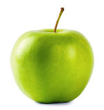 Round green apple with handle Royalty Free Stock Photos
