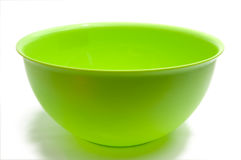 Round green bowl Royalty Free Stock Photography