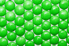 Round green candies Stock Image