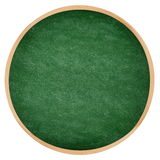 Round green chalkboard or blackboard circle Stock Images