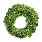 Round green christmas wreath Stock Photo