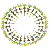 Round green frame Royalty Free Stock Image