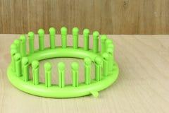Round Green Knitting Loom Stock Photos