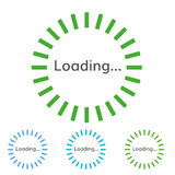 Round green sign of loading. Vector round pre-loader Royalty Free Stock Photo