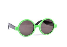 Round green sunglasses Stock Photo