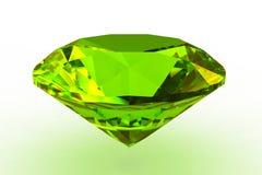 Round green topaz gemstone. 3D render Royalty Free Stock Photos
