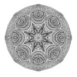 Round grey ornament Stock Images