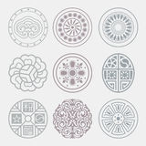 Round grid Symbol sets. Geometric Pattern Design. Royalty Free Stock Photo