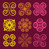 Round grid Symbol sets. Geometric Pattern Design. Original Patte Stock Photos