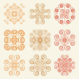 Round grid Symbol sets. Geometric Pattern Design. Original Patte Stock Image