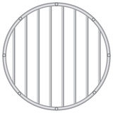 Round grid with vertical rods Royalty Free Stock Photography