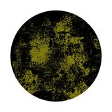 Round grunge background yellow black. Isolated round yellow black circle background Royalty Free Stock Photography