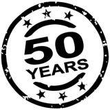 Grunge stamp for 50 years jubilee. Round grunge stamp for 50 years jubilee marketing stock illustration