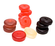 Round Gummy Candies Stock Image