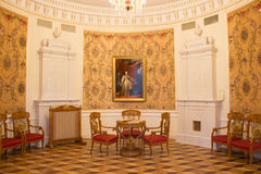 The round hall in the manor. vintage Royalty Free Stock Photography