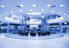 Round hall in shopping center Royalty Free Stock Photography