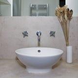 Round hand wash. Luxury round hand wash basin with decoration Royalty Free Stock Photo
