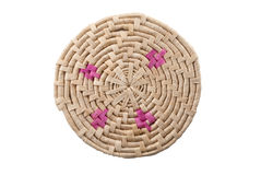 Round handmade colored mat Stock Photos