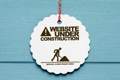 Website under construction sign stock illustration