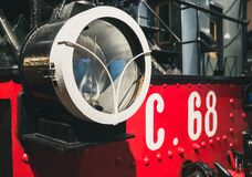 Free Round Headlight Of Retro Vintage Steam Train Royalty Free Stock Photos - 176014448