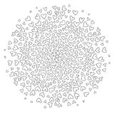 Round of hearts on white background. Royalty Free Stock Photo