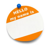 Round Hello Tag Royalty Free Stock Photography