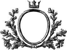 Round heraldic frame Stock Photography