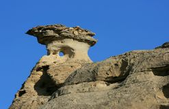 Round Hole in Hoodoo Stock Images
